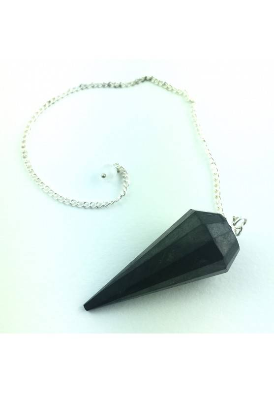 Pendulum Shungite Tumbled Stone Crystal Healing faceted 12 sides-1