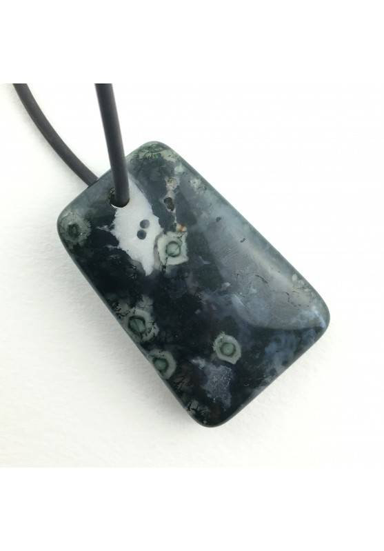Pendant Clear ORBICULAR Agate Tumbled Chakra Reiki Zen Zodiac Minerals Gemini-1