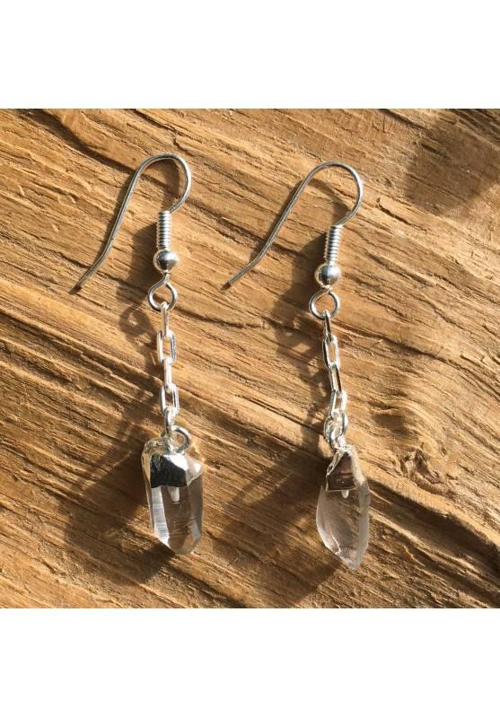Earrings Points Clear Quartz Crystal Healing Rock's Crystal Crystal Healing-1