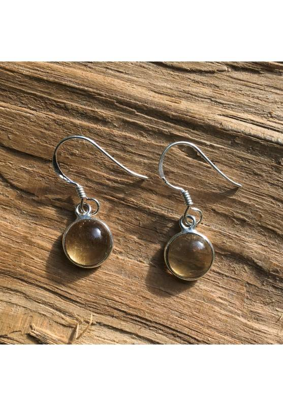 Earrings Tumbled Citrine quartz High Quality Smooth Jewelry Crystal Healing-1