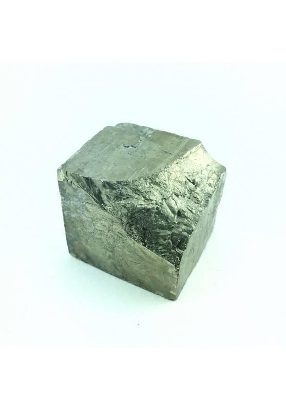 Cubo Grezzo Minerale di PIRITE di Navajun 57gr Chakra Reiki Cristalloterapia-2