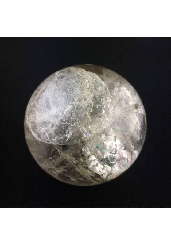 MINERALS Natural Clear QUARTZ CRYSTAL SPHERE Ice Mineral Chakra Reiki Furniture-1