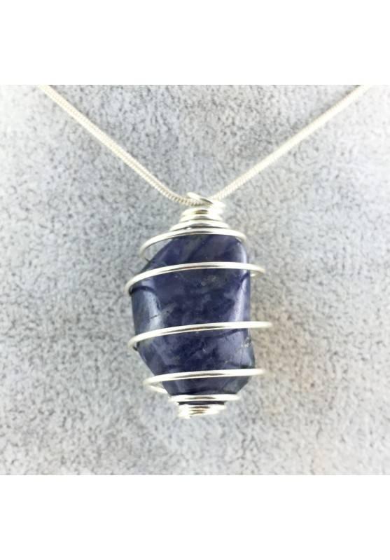 Ciondolo IOLITE burattata Cordierite Minerali Burattati Cristalloterapia Collezionismo A+-1