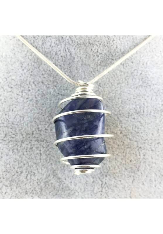 Pendant Tumbled Stone Blue IOLITE Cordierite Crystal Healing Chakra Reiki Zen-1