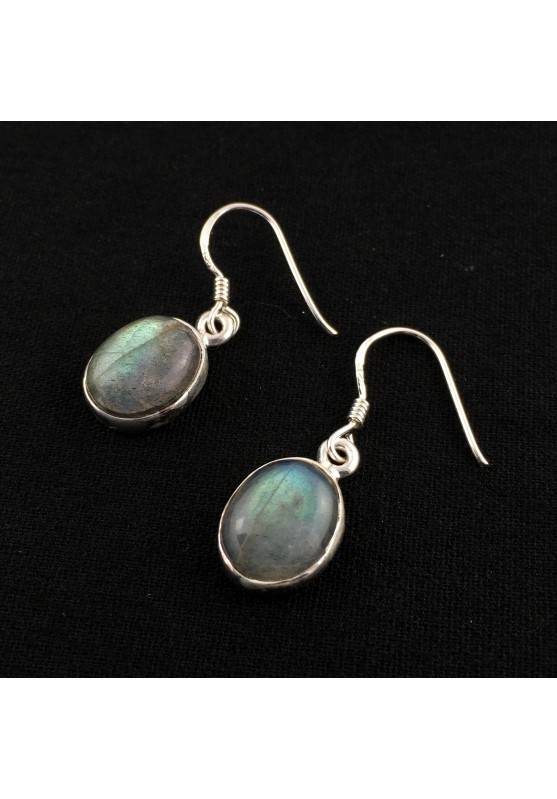 LABRADORITE Earrings Reflections on 925 Silver Zodiac Leo Scorpio Sagittarius-1