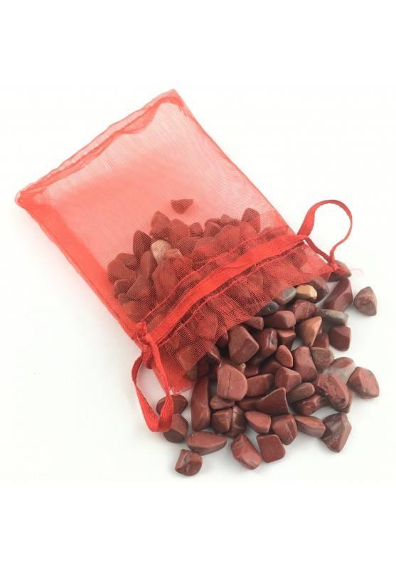 Minerali Sacchetto 50 grammi di Diaspro Rosso Cristalloterapia Collezionismo A+-1