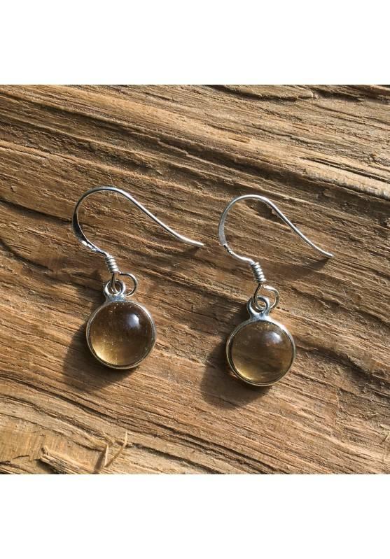 Earrings Citrine quartz High Quality Smooth Jewelry Zodiac Virgo Aries Gemini-1
