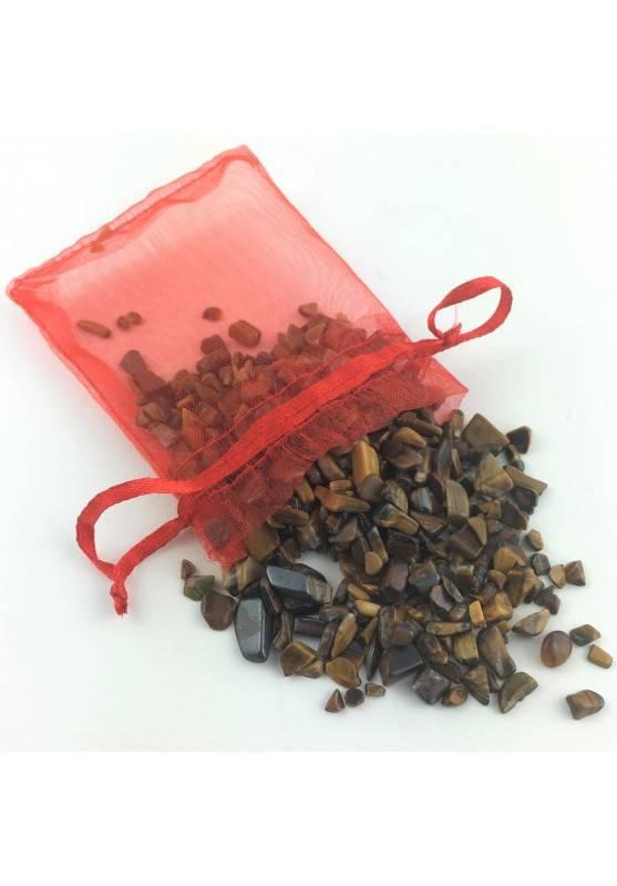 Bolsa 50 Gramos Ojo de Tigre en Rodado Minerales Terapia de Cristales Chakra Zen-1