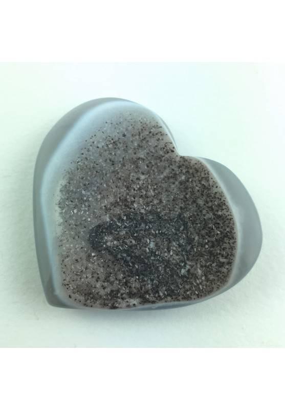 Bellissimo Raro Cuore in AGATA Cristallizzata Qualità Extra Cristalloterapia-1