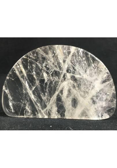 PIASTRA QUARZO IALINO Cristallo di rocca Con Base Chakra Cristalli 1° Qualità A+-1