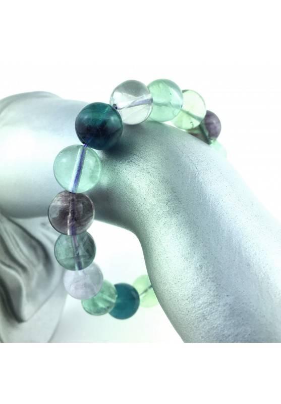 GRANDE Pulsera FLUORITA Rodada Extra Calidad Terapia de Cristales Chakra Reiki-3