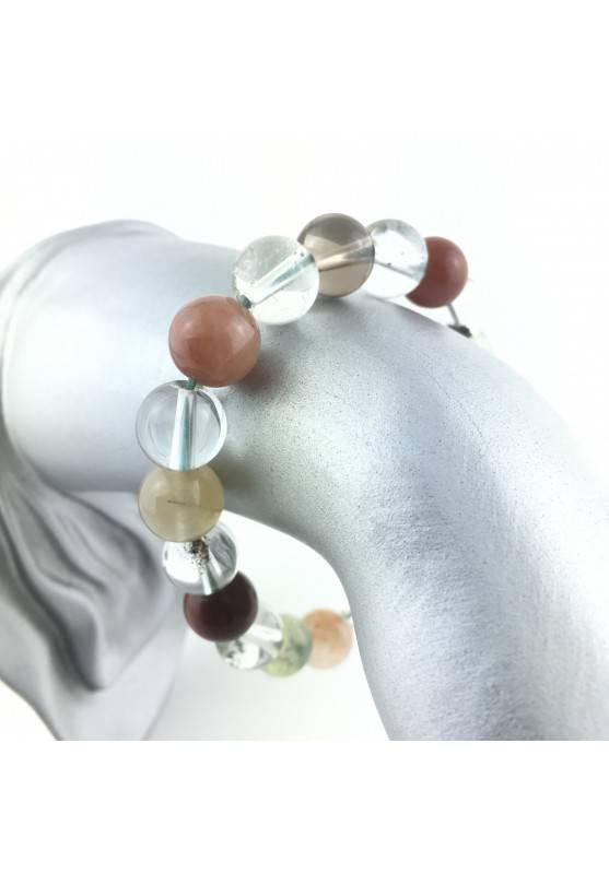 Bracialet Rutilated quartz Carnelian Lodolite Crystal Healing Chakra Reiki Zen-3