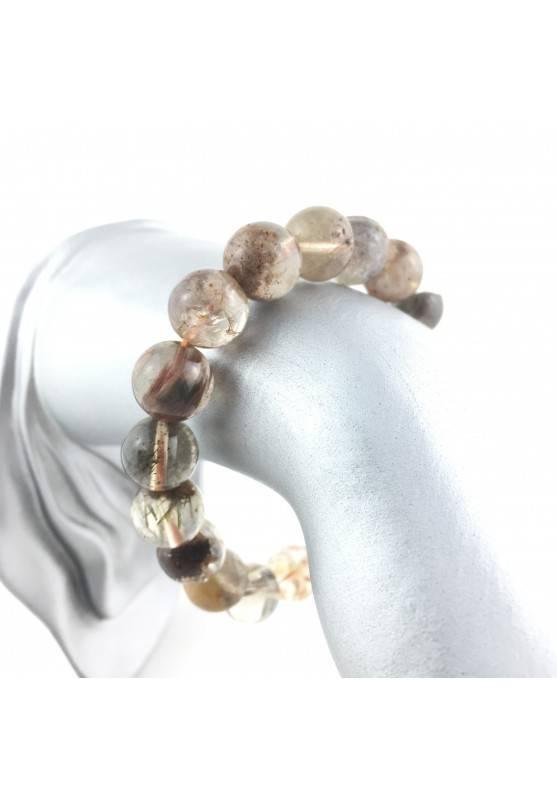 Bracialet Minerals RUTILATED QUARTZ Clear Crystal Healing Chakra Reiki Zen A+-2