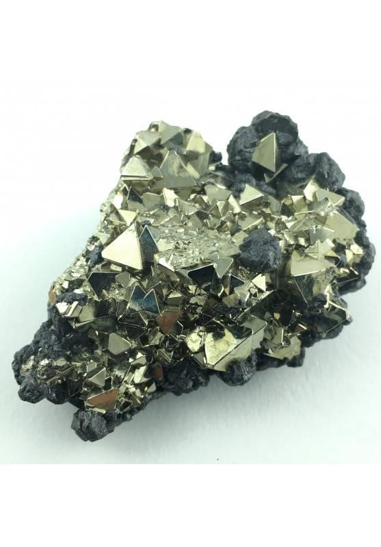PYRITE Octahedron with Sphalerite - Perù Crystal Healing Specimen-1