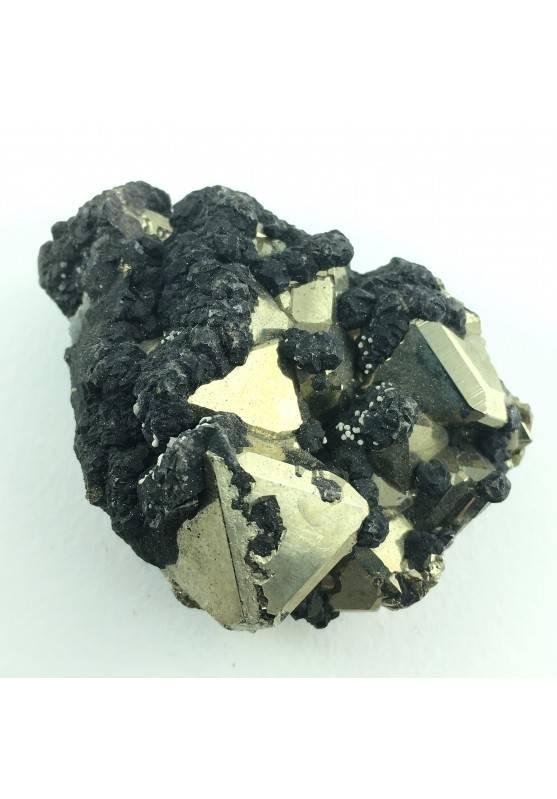 Mineral * Octahedron PYRITE with Sphalerite Specimen Minerals Crystal Healing 97gr-1