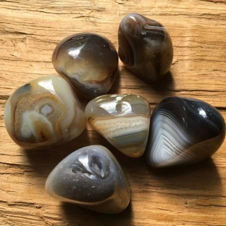 LARGE Botswana AGATE Tumbled Stone Crystal Healing High Quality Chakra Reiki A+-1