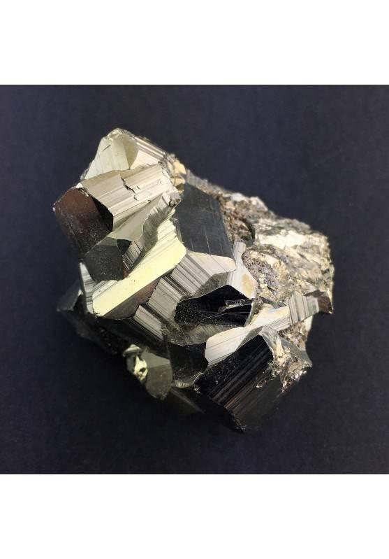 Minerales * PIRITA Pentagonal Perù Crudo Crystal Healing Decoración de Hogar A+-1