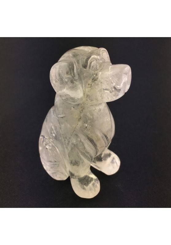 Hyaline Quartz Rock Crystal Dog BIG Size Animals Crystal Healing Polished A+-2