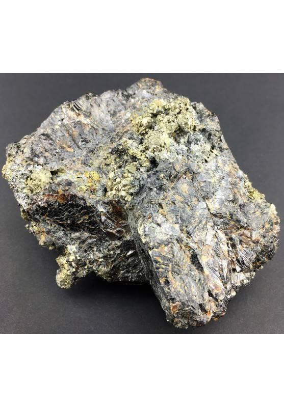 Stupenda BLENDA con PIRITE EMATITE CALCOPIRITE Grezza Minerali Cristalloterapia-1