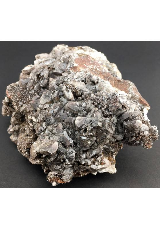 Rara CALCITE NERA Grezza Minerali Stupenda Collezionismo Cristalli Zen A+-3