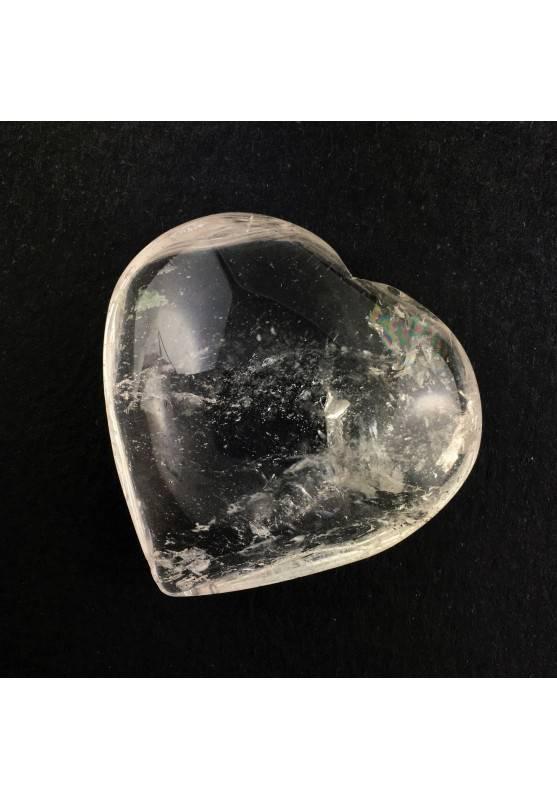 CORAZÓN Cuarzo Blanco Amor Minerales Rodado Puro Terapia de Cristales Fantasma-1