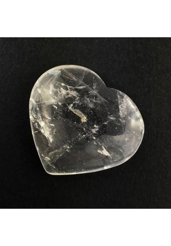 Perfecto CORAZÓN Cuarzo Blanco Amor Minerales Rodado Puro Decoración de Hogar A+-1