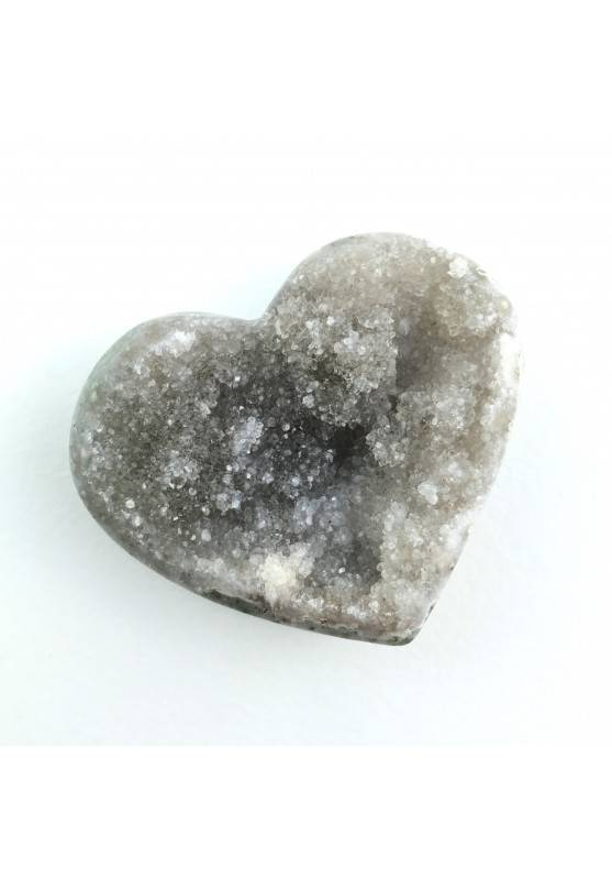 Mineral Heart in Crystallized AGATE With Amethyst Extra Quality Chakra Reiki Zen-1
