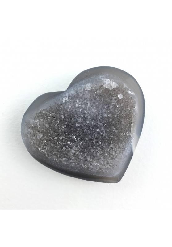 Hermoso Corazón Raro en Cristalizado AGATE con AMATISTA Calidad Extra Amor A+-2