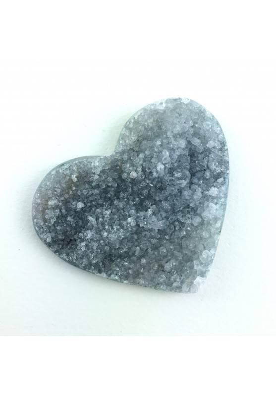 Cuore in AGATA con Cristalli di AMETISTA Cristalloterapia Amore Zen A+ 24g-1