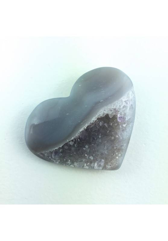 Mineral Heart in Crystallized Slice AGATE With Amethyst Crystal Healing A+ 20g-1