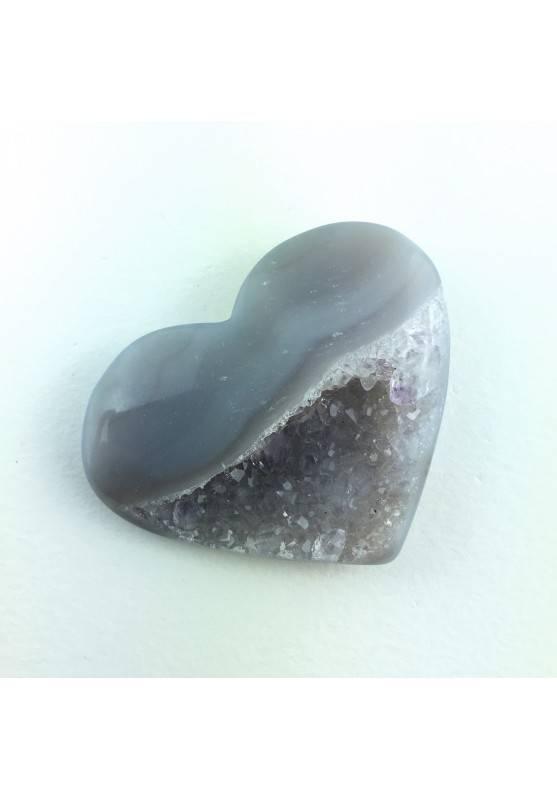 Minerales Corazón Raro en Cristalizado AGATE con AMATISTA Terapia de Cristales-1