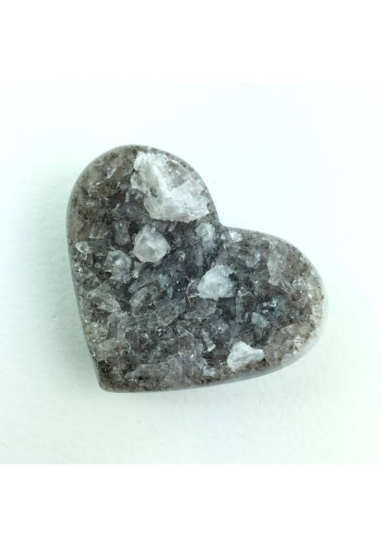 Good Heart in Crystallized Slice AGATE With Amethyst Mineral Crystal Healing-2