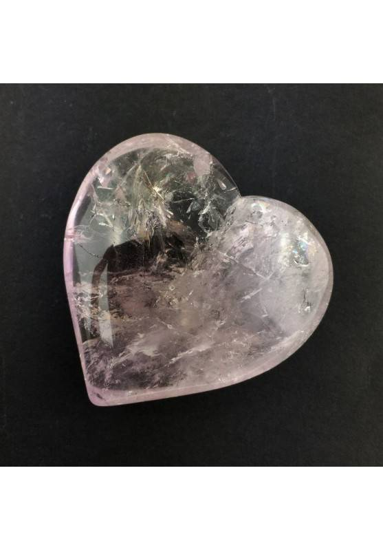 Good Beautiful Mineral Amethyst Heart with Hyaline Quartz Polished A+ 41g Chakra-1