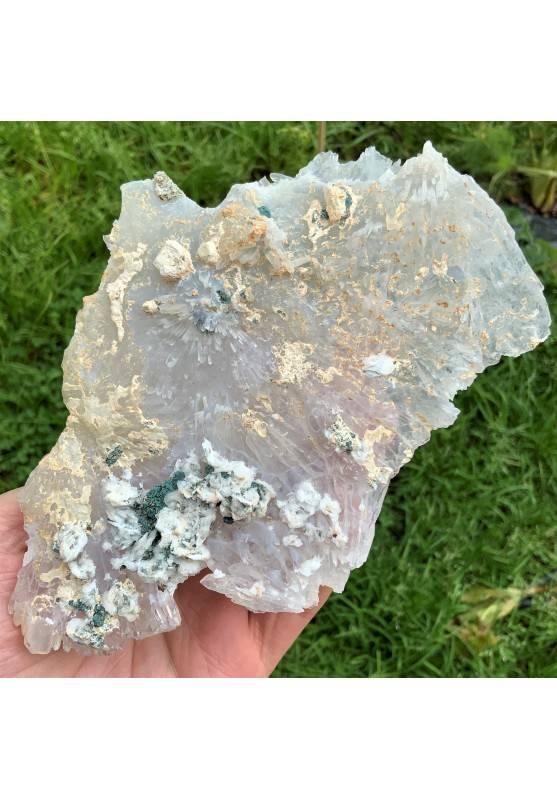 Fiore di Quarzo con Ametista Marocco Minerale Alta Qualità Cristalloterapia A+-1