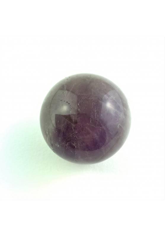 Ottima SFERA in AMETISTA Minerale Cristalloterapia Chakra Reiki Zen Arredamento-1