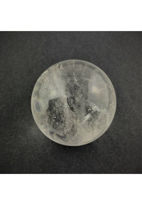 Minerals * Clear QUARTZ CRYSTAL SPHERE Rock Crystal with Ice Crystal Healing 94g-1