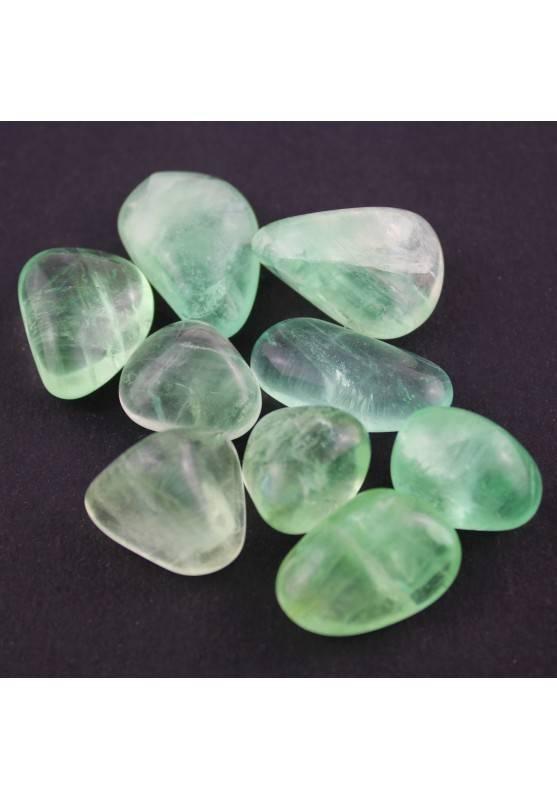 Green Fluorite Tumbled Stone Fluorina Crystal Healing MINERALS Gemstone Crystal A+-1