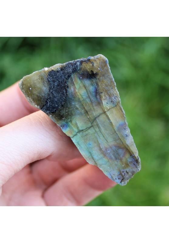 LABRADORITE Lato Liscio Minerali Grezzo Oro Blu Cristalloterapia Arreadmento A+-2