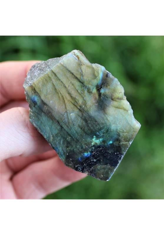 LABRADORITE Smooth Side Tumbled Crystal Healing Home Decor Minerals A+ 62g-1