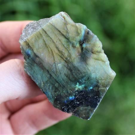 LABRADORITE Minerali Grezzo Lato Liscio Cristalloterapia Arredamento 62gr A+-1