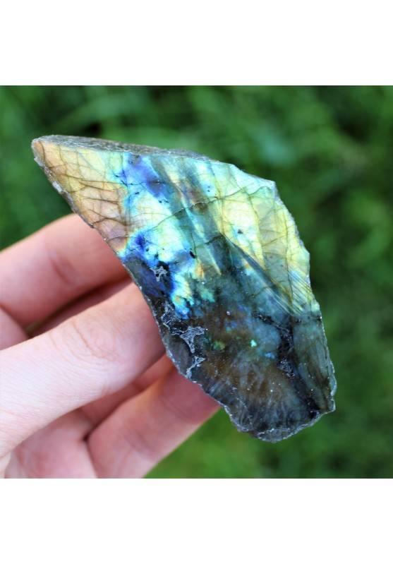 Piastra LABRADORITE Minerali Cristalloterapia Arredamento Collezionismo A+-1