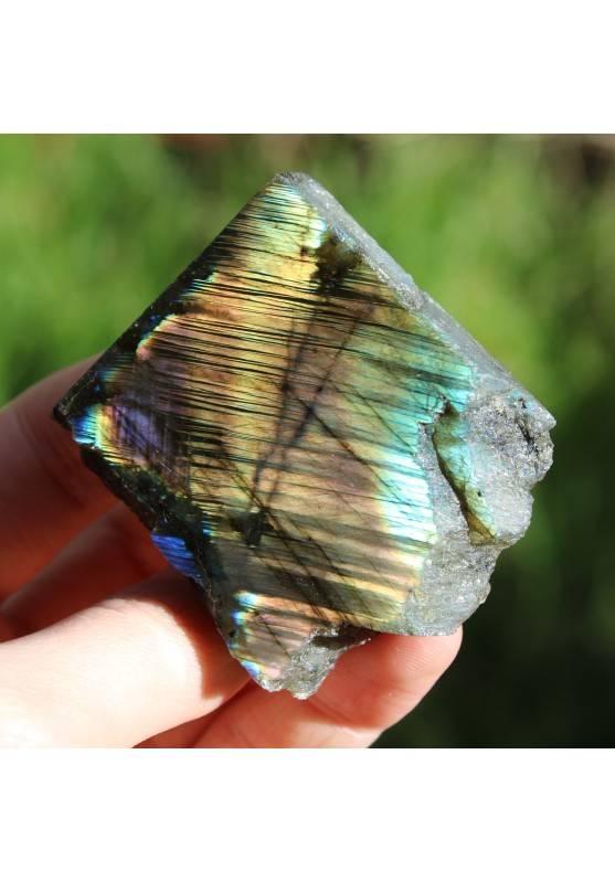 Piastra LABRADORITE Minerali Arredamento Cristalloterapia Chakra Reiki Zen 81g-1