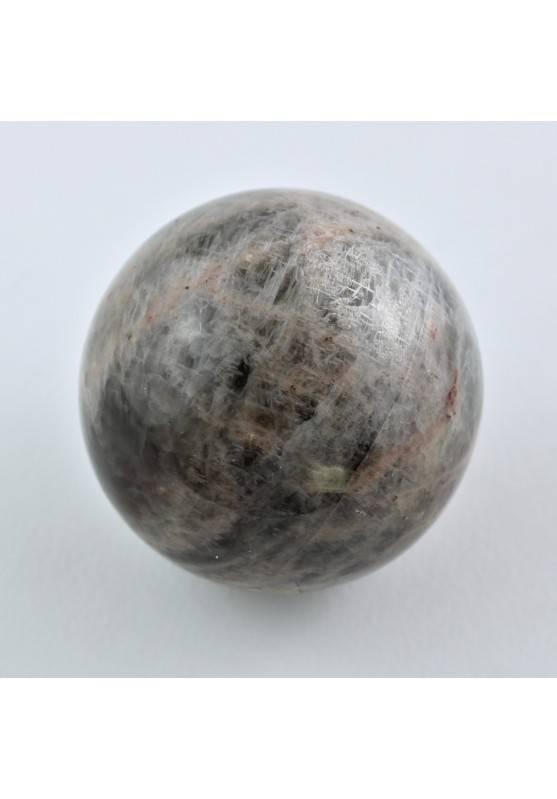 Grande ESFERAS PIEDRA de LUNA Negra ADULARIA Negra Minerales Chakra Reiki 165g-1