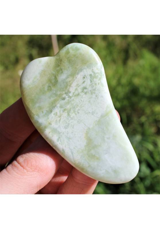 GUA SHA Massage Therapy in JADE Face MINERALS High Quality Chakra Reiki Zen A+-1