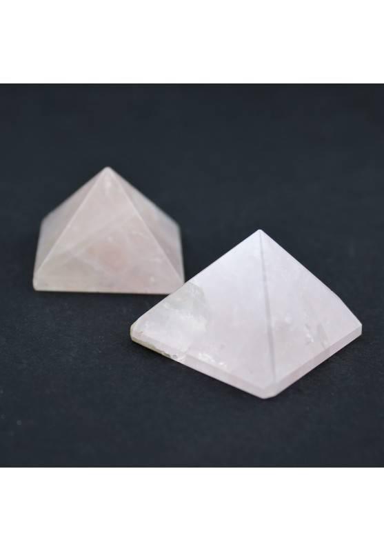 Pirámide CUARZO ROSA minerales Terapia de Cristales Colección Chakra Zen A+-1