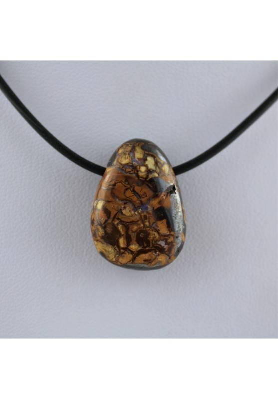 Colgante en ÓPALO Rodado Collar Perita Alta Calidad Terapia de Cristales Chakra-1