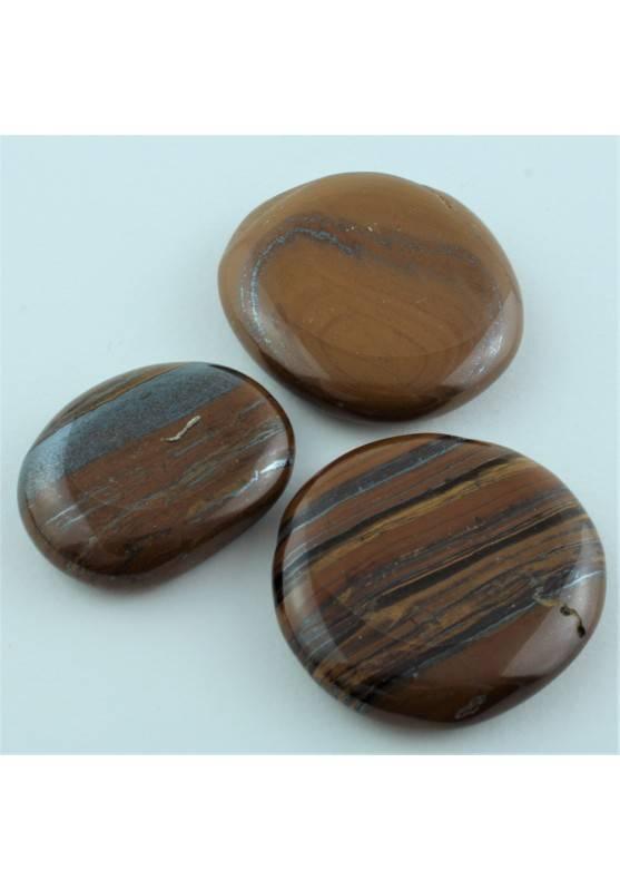PALMSTONE OCCHIO di FERRO Burattato Minerali Collezionismo A+ Chakra Reiki Zen-1