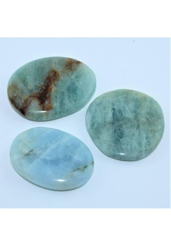 Minerales de AGUAMARINA Rodado Palmstone masajes Terapia de Cristales Chakra A+-1