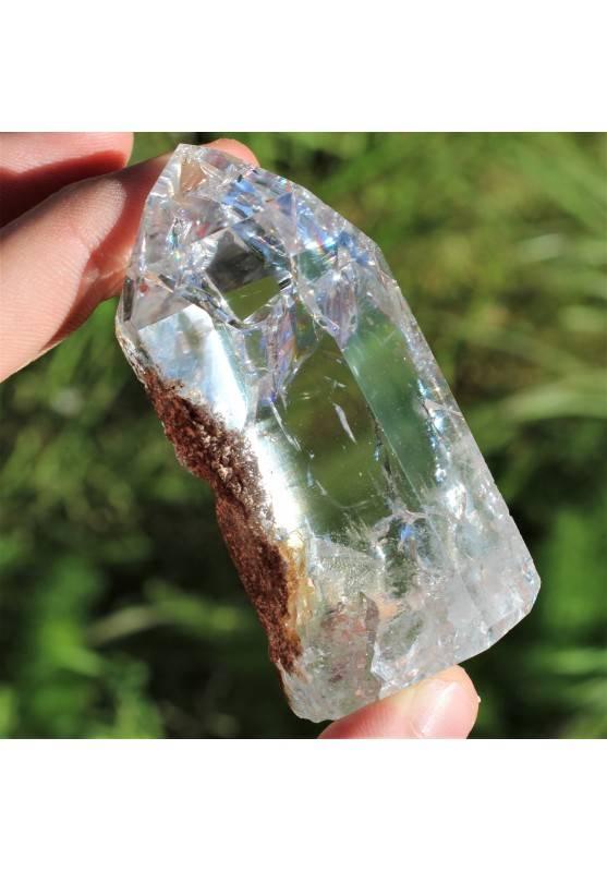 Punta Cuarzo Blanco Minerales Inclusiones Terapia de Cristales Chakra Reiki Zen-1