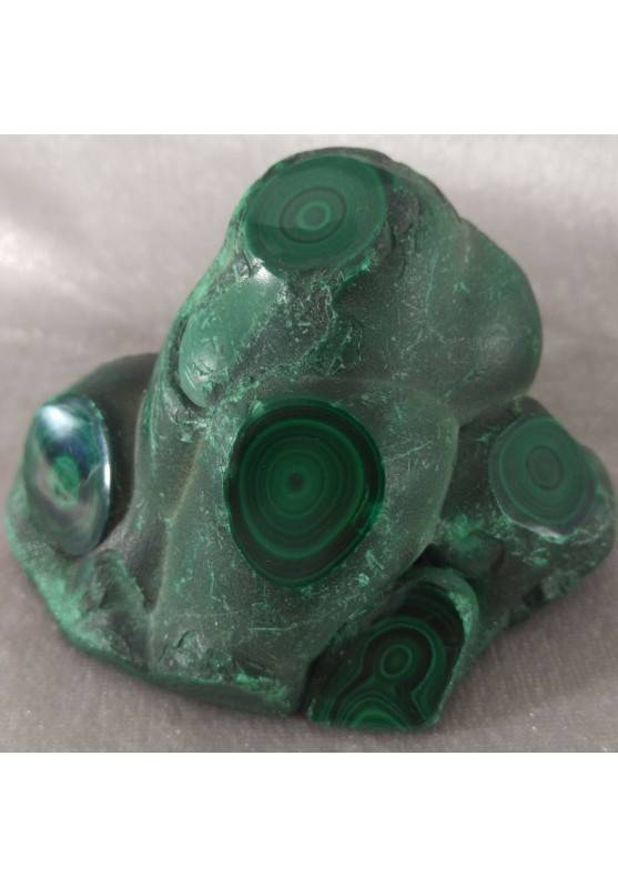 * MINERALS * LARGE Rough MALACHITE Polished Specimen 652 Grams A++-1